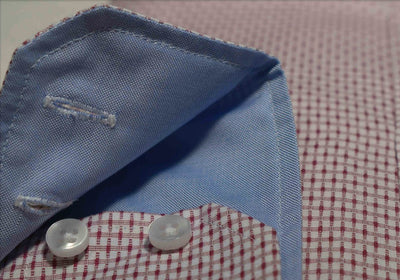 close up of 2 button cuffs of Robert W. Stolz Austrian Dress Shirt