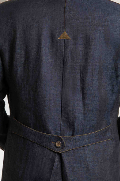 detail of backside of austrian linen jacket