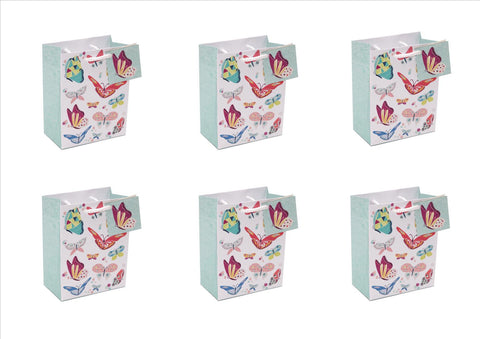 Pack of 6 - Butterfly Design Party Gift Bags