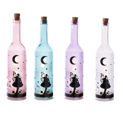 Magical Coloured Fairy Decal Decorative Bottle with LED Lights
