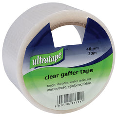 Ultratape - Gaffer Tape 50mm x 20M - Clear Reinforced Cloth Tape