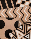 Kraft Paper Gift Wrap Pack 1 Roll - 2M - Geo Zig Zag Design