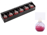 6 Place Card Holders Cards Christmas Wedding Table Bauble Glitter Clip Red