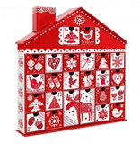 3D NORDIC CHRISTMAS ADVENT CALENDAR WITH PULL OUT DATE HOLDING GIFT BOXES
