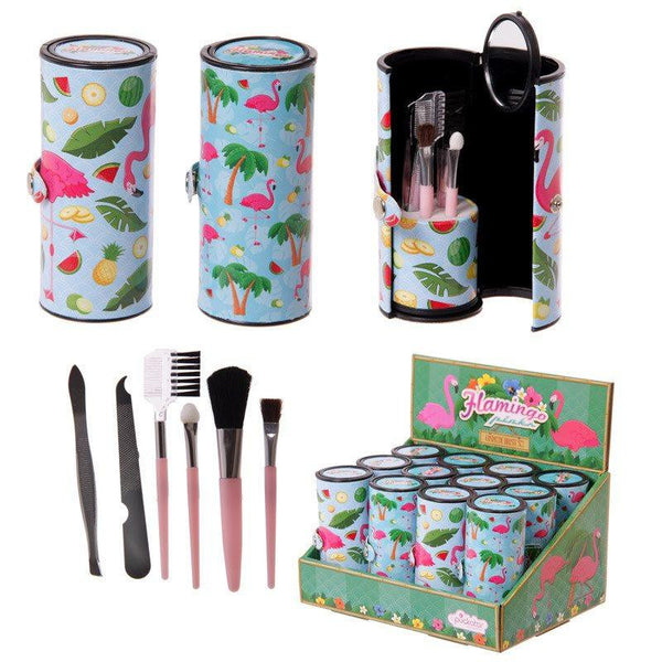 Fun Make Up Utensil Kit - Flamingo Design Make Up Utensil Kit
