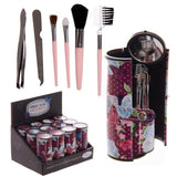 Fun Make Up Utensil Kit - Purple Chintz Butterfly Design Make Up Utensil Kit