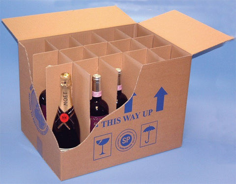 Bottle And Glass Packs - Box - Bottle Inserts & Dividers - 15 Cells