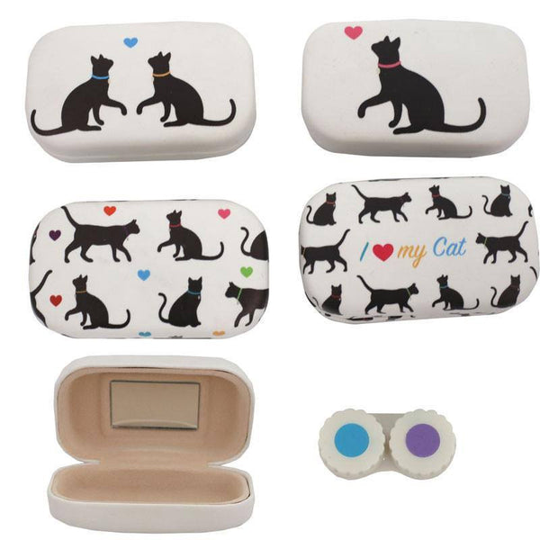 Cat Silhouette Contact Lenses Case