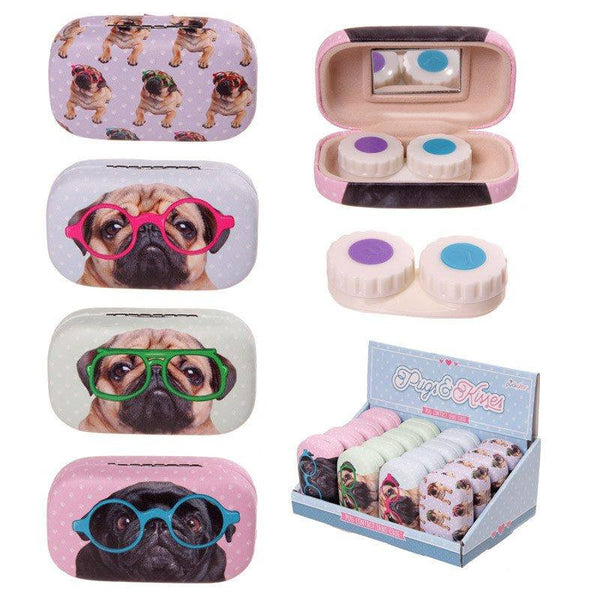 Cute Pug Contact Lenses Case