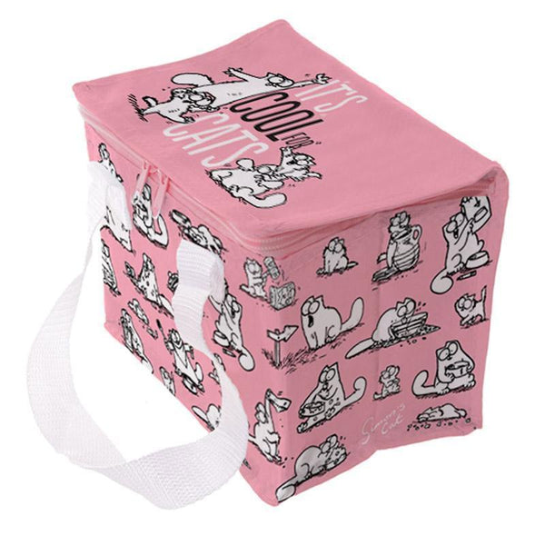 Woven Cool Bag Lunch Box - Funky Pink
