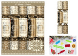 Pack of Ten Family Crackers GOLD DAMASK 30cm