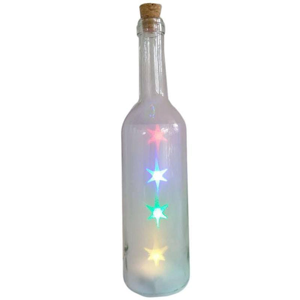 Decorative Bottle Jar with Multicoloured LED Stars Light string 0.6W