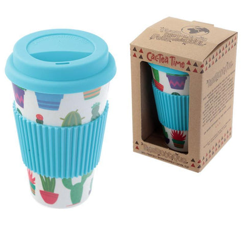 Dinner Set - Cactus Design Eco-Friendly Bio Degradable Bamboo - Travel Cup / Coffee Mug For Life
