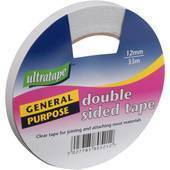 Ultratape Double Sided Clear Tape acid free 12mm x 33M
