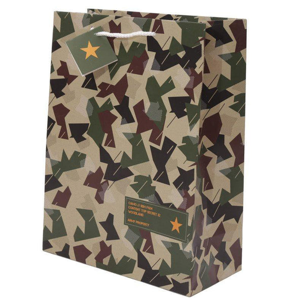 Camouflage Design Gift Bag 26 x 12 x 33cm