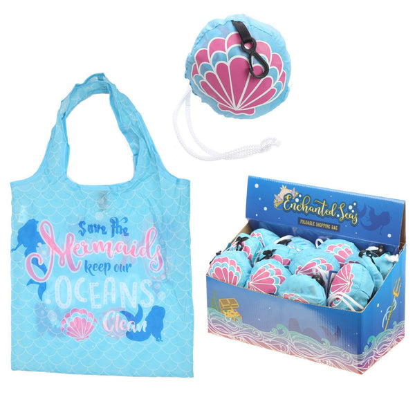 Foldable Reusable Eco Friendly Shopping Bag - Mermaid enchanted seas