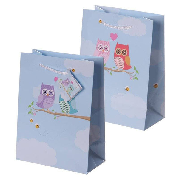 Love Owls Design Gift Bag 17 x 9 x 23cm