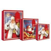 Merry Christmas Design Gift Bag 46 x 10 x 33cm - Santa & Sack XL