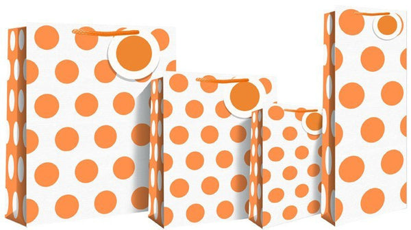 Neon Orange Gift Bag - Medium size 21 x 10 x 25cm