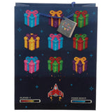 Retro Gaming Design Gift Bag 26 x 12 x 33cm - Happy Birthday