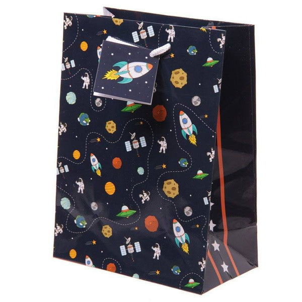 Rocket and Planet Gift Bag 17 x 9 x 23cm