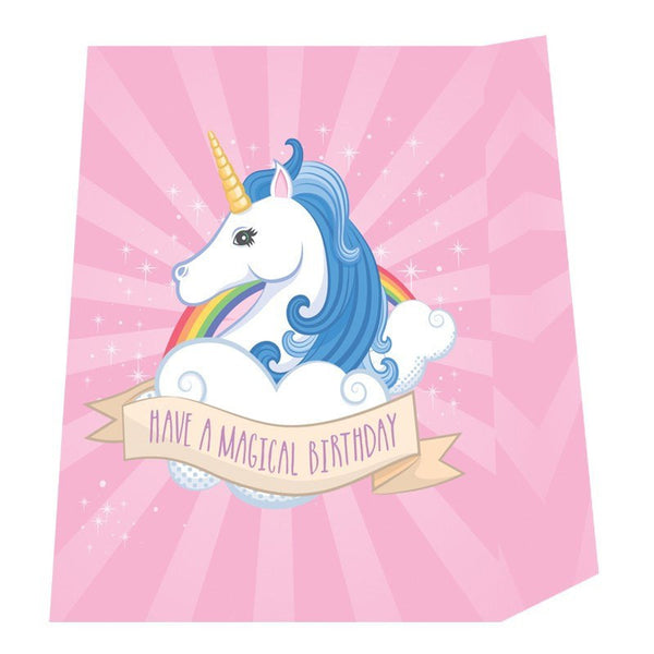 Unicorn Design Gift Bag 26 x 12 x 33cm - Have a magical birthday