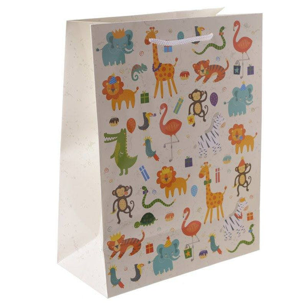 Zooniverse Gift Bag 26 x 12 x 33cm - Zoo design