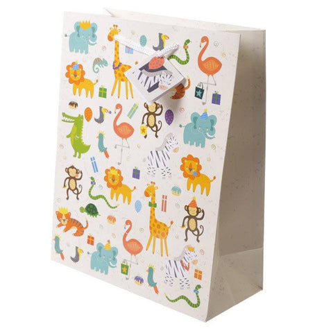 Gift Bag - Zooniverse Gift Bag 26 X 12 X 33cm - Zoo Design