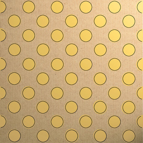 Gift Wrap - Printed Kraft Paper Gift Wrap Pack 1 Roll - 2M - Botanical Spot Yellow