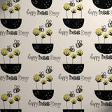 Printed Kraft Paper Gift Wrap Pack 1 Roll - 2M - Happy Earth Bee