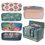 Fun Glasses Case - Tropical Flamingo Design