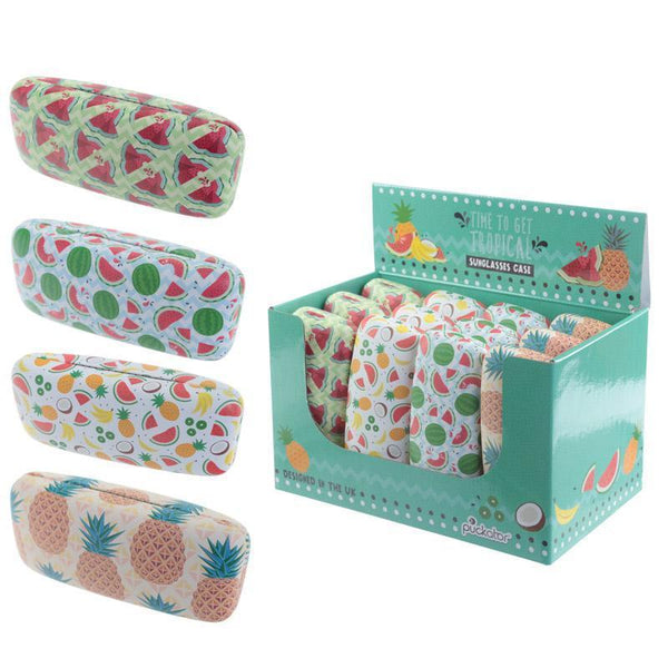 Fun Glasses Case - Tropical Pineapple & Watermelon Design