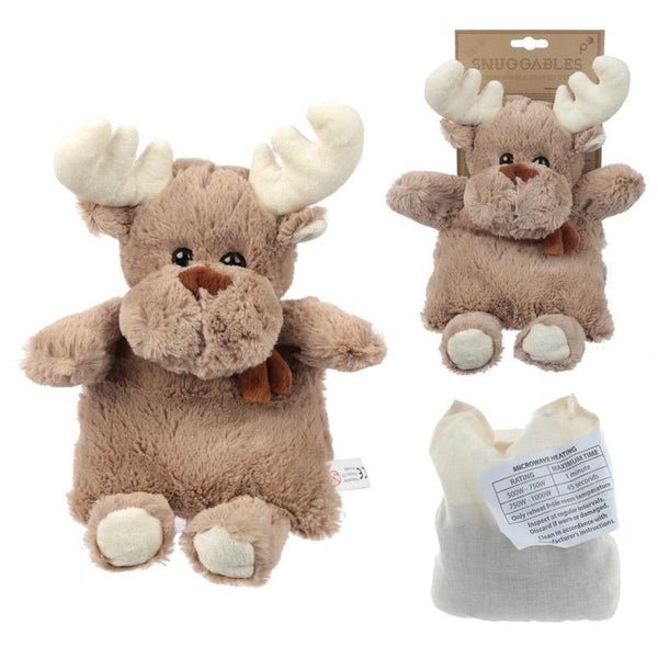 Microwaveable Snuggables Christmas Reindeer Heat Pack