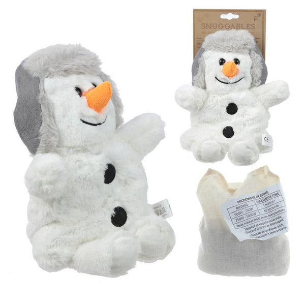 Microwaveable Snuggables Christmas Snowman Heat Pack