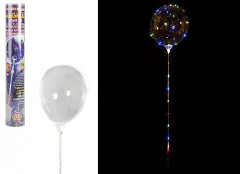 Magical Light-Up Balloon  - 30 LED multi colour bulbs PK1 with Pump