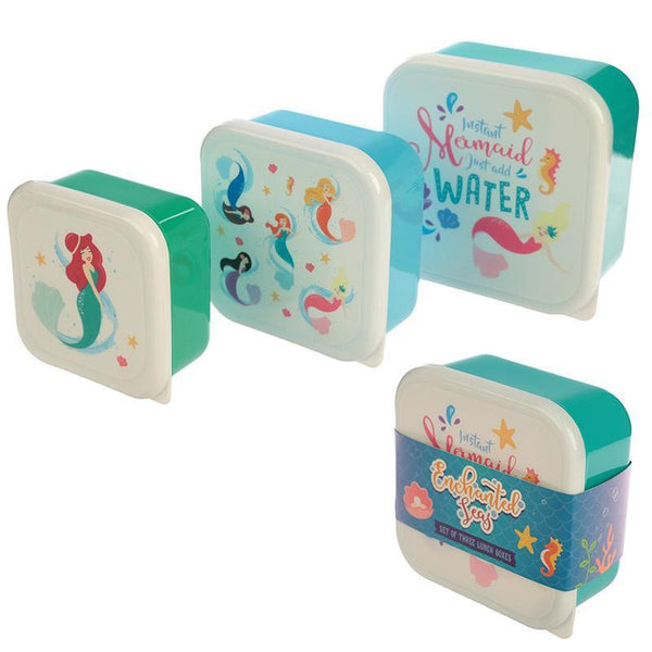 Mermaid - Set of 3 Nested Snack Pots - Instant Mermaid Just Add Water!