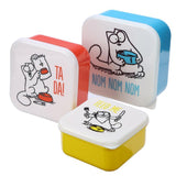 Simon's Cat Set of 3 Nested Snack Pots - Feed Me, Ta Da, Nom Nom Nom