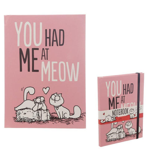 Note Book - Simon's Cat A5 Hardback Notebook - Licensed - You Had Me At Meow!
