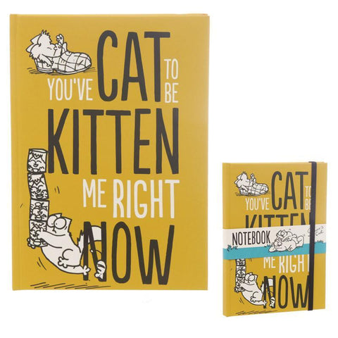 Note Book - Simon's Cat A5 Hardback Notebook - Licensed - You've Cat To Be Kitten Me Now!