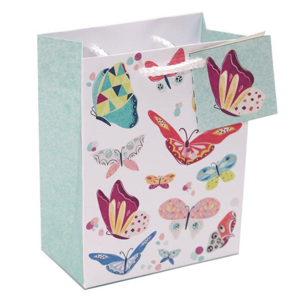 Pack of 6 - Butterfly Design Party Gift Bags 14 x 6 x 11cm (Pk6)