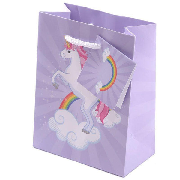Pack of 6 - Unicorn Design Gift Party Bags 14 x 6 x 11cm (Pk6)