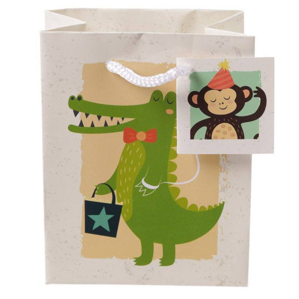 Pack of 6 - Zoo Animals Party Gift Bags 14 x 6 x 11cm (Pk6)