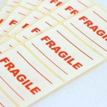 fragile stickers 25 per pack bags of room