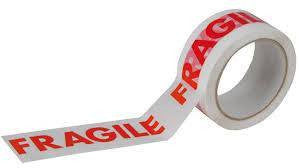 Parcel Tape - Fragile White (Low Noise) 48mm x 66M