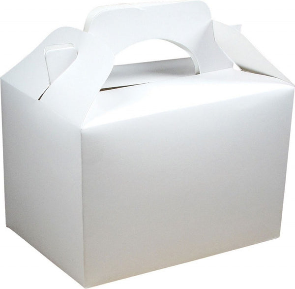 Pack of 10 Party Boxes - White Wedding Food Box PK10