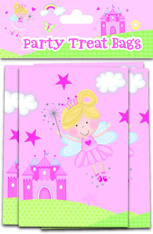 Partyware - 10 Pack Pink Fairy Treat Bags - Partyware - 10PK