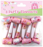 8 Pack Pink Fairy & Rainbow Party Whistles - Partyware - 8PK 12""