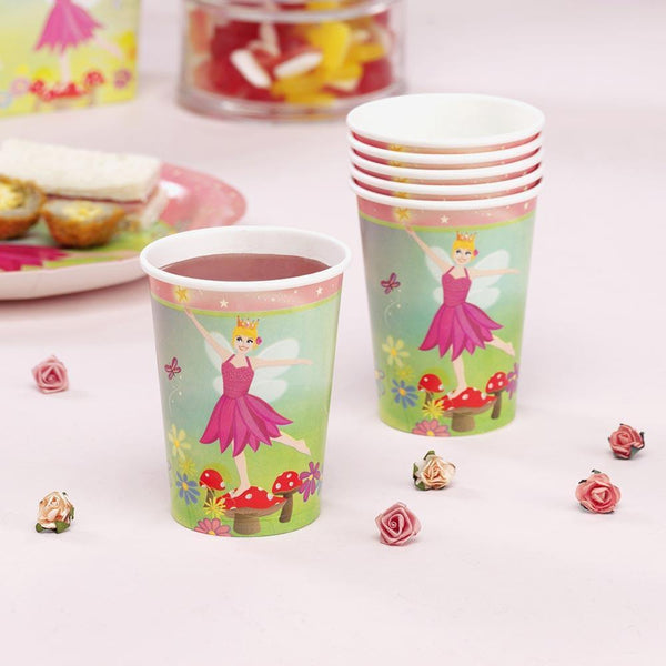 8 Pack Princess Fairy Paper Cups - Partyware - 8PK 9OZ