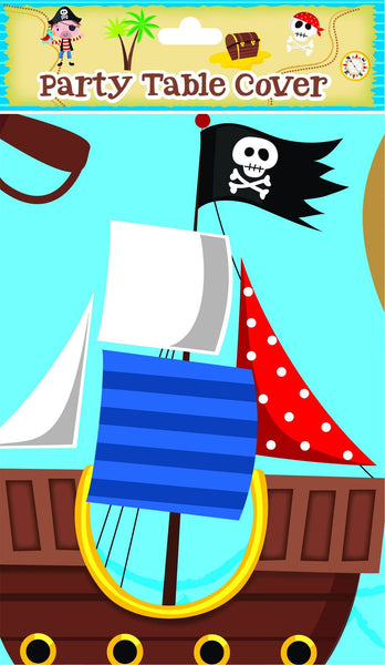 Blue Pirate Table Cover - Partyware - 180cm X 120cm