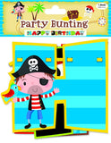 PIRATE BIRTHDAY GARLAND - Partyware - Banner Bunting 210cm